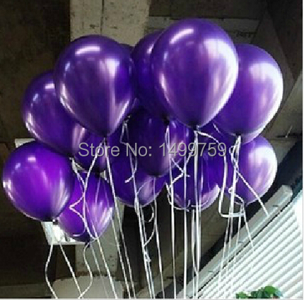 100pcs/Lot 1.5g 10 Inch Purple Latex Balloons Wedding Decor Party Supplies Baby Shower Decorations(China (Mainland))