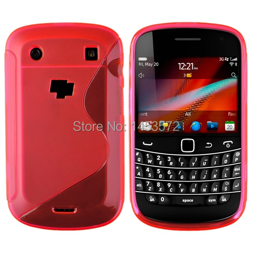 Hot Pink S Shape TPU Rubber Gel Case Cover for BlackBerry Bold 9900 9930(China (Mainland))