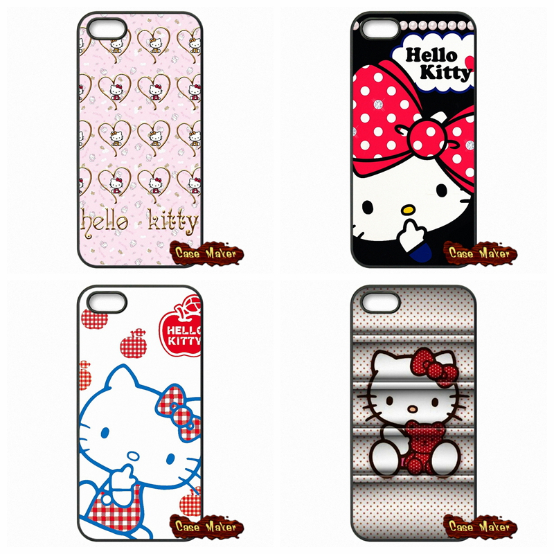 For iPhone 4 4S 5S 5 5C SE 6 6S Plus iPod Touch 4 5 6 HTC One M7 M8 M9 LG G2 G3 G4 G5 Cute Cartoon Hello Kitty Phone Case Cover(China (Mainland))