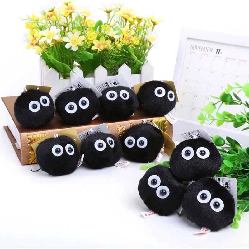 My Neighbor Totoro Fairydust Plush Toy Doll with Ring Soft Stuffed Doll 10pcs/lot Free Shipping ANPT372(China (Mainland))