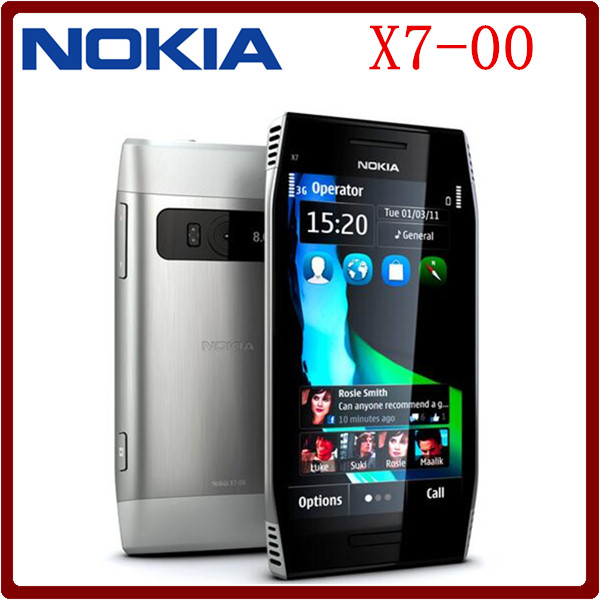 X7-00 Original Unlocked Nokia X7-00 8MP Camera 4.0`` WCDMA 3G 720P GPS WIFI Refurbished Mobile Phone Free Shipping(China (Mainland))