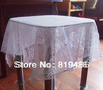 """free shipping floral lace mini table cloth 80*80cm(31""""*31"""")100%polyster white color"""