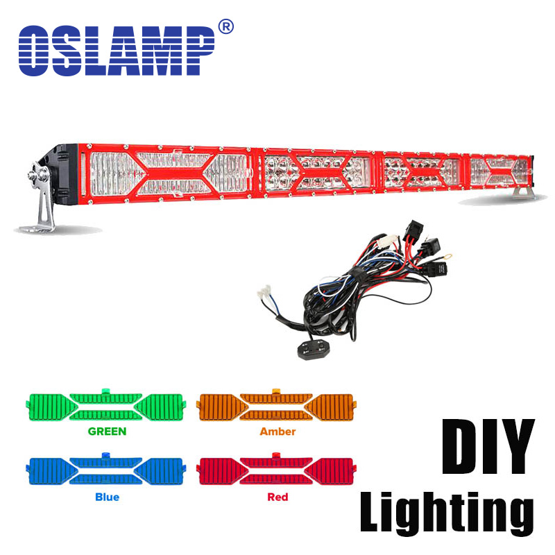 "Oslamp DIY Covers 5D 42"" 400w LED Work Light Bar Offroad DRL with A B Swithes Wire 4x4 4WD 12V 24V ATV UTV Truck Trailer Camper(China (Mainland))"