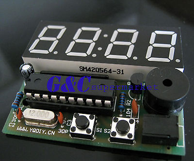 Electronic Clock Electronic Production Suite 4 Bits C51 DIY Kits(China (Mainland))