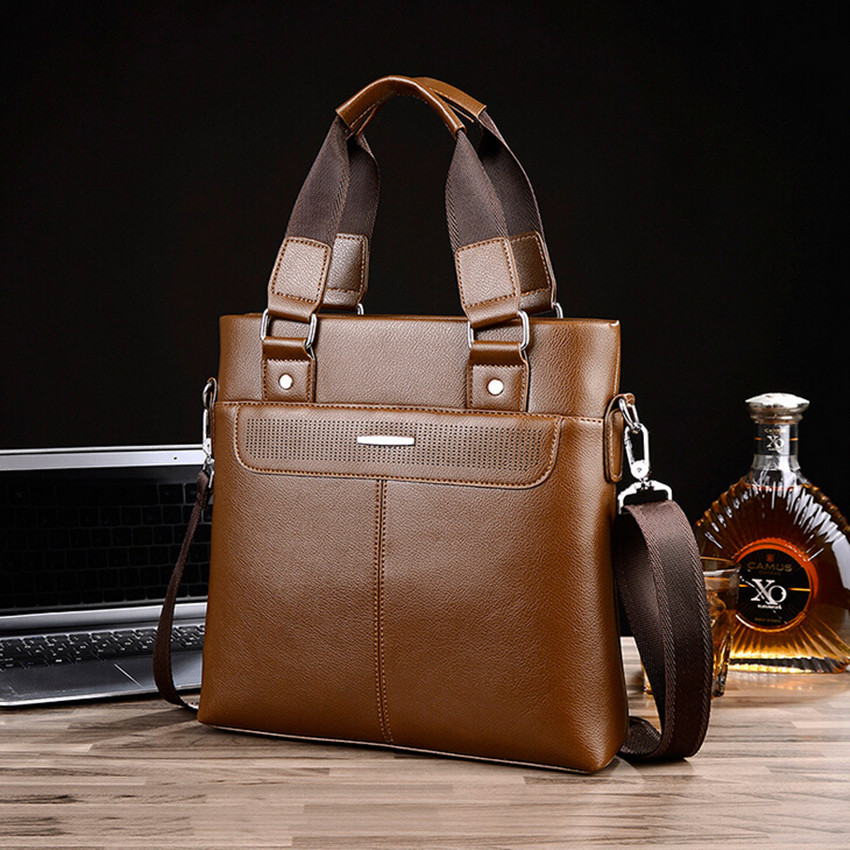 Fashion Men's PU Leather Business Laptop Bag Briefcases Businessman Totes Cross Body Messenger Bags Two Size 3 Colors F261(China (Mainland))