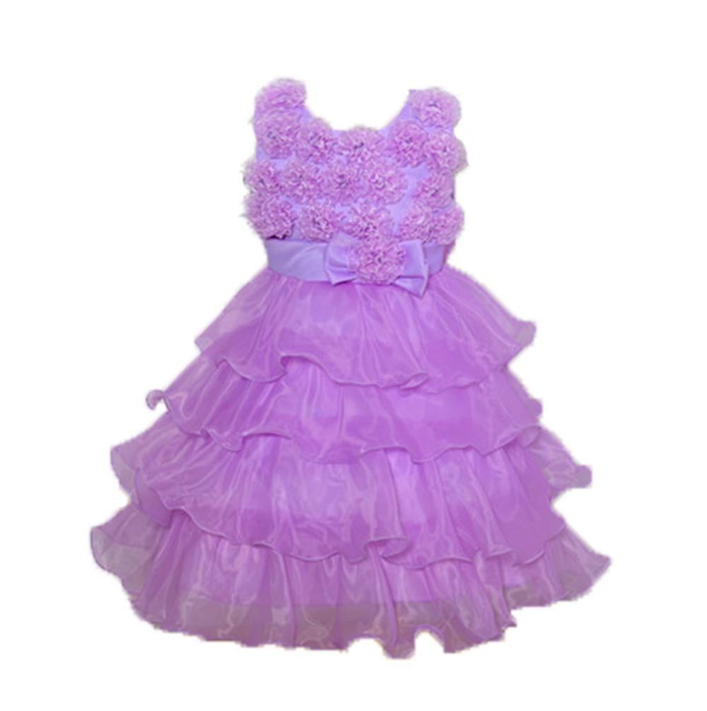 The new multi-colored wedding dress, flower girl dress baby dress child free shipping(China (Mainland))