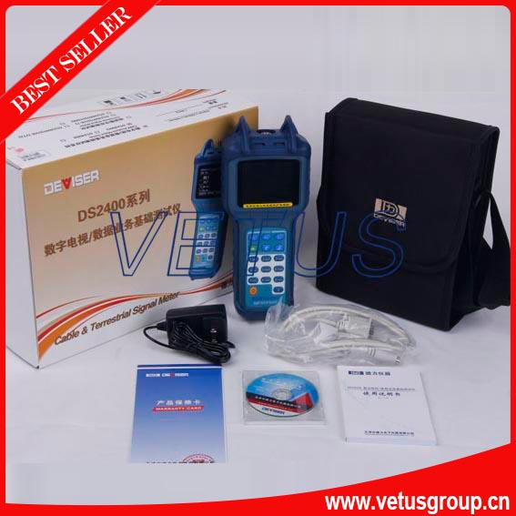 DS2400Q Handheld QAM Signal Level Meter for the frequency range 5 ~ 100 MHz DS-2400Q(China (Mainland))