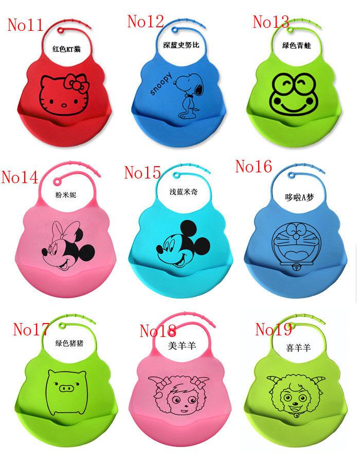 Newborn 2015 New baby Stuff Cartoon Hello Kitty Minnie Waterproof baby stuffBibs Infants Kids Feeding Clothing Accessories(China (Mainland))