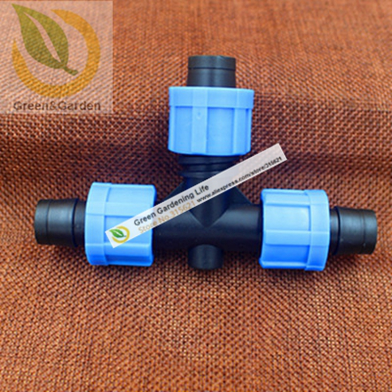 5PCS DN16 Drip irrigation Joint T-Junction Three-Way Elbow Equal Tee Drip Irrigation System Garden Water Connectors(China (Mainland))