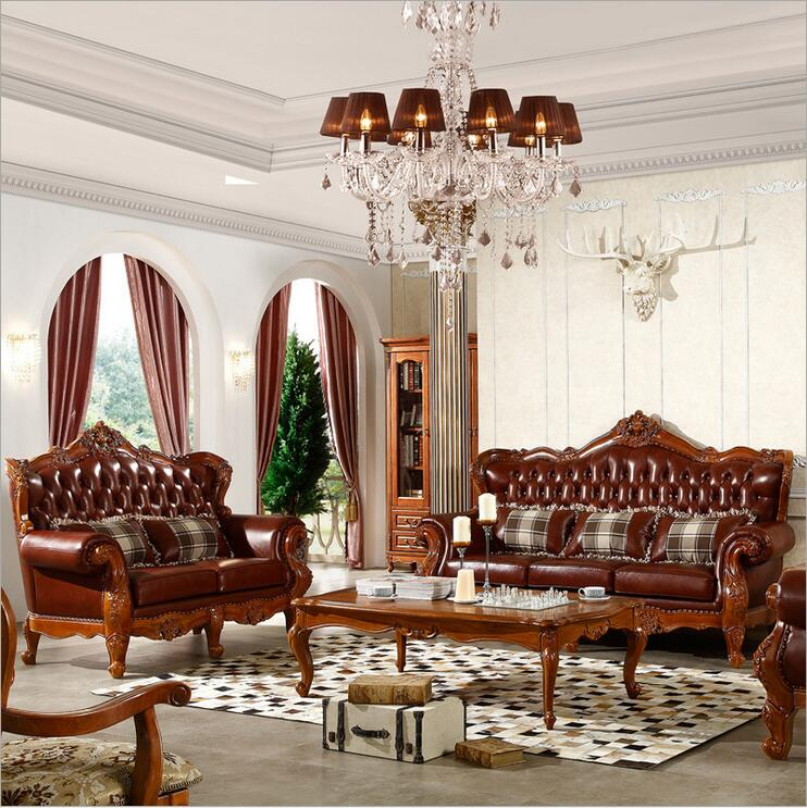 High Quality European Antique Living Room Sofa Furniture