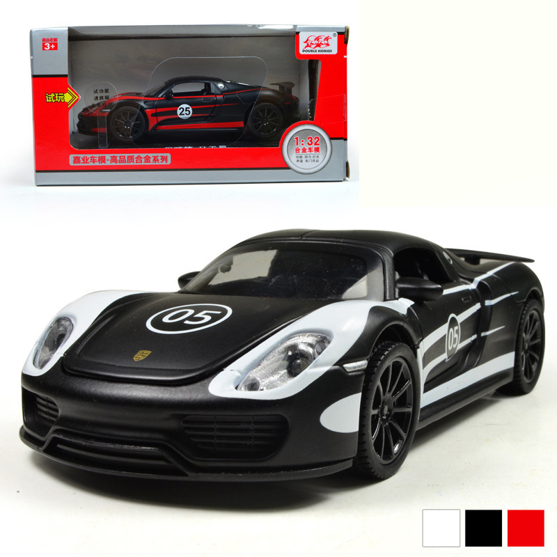 JiaYe 911 Martini 1:32 Scale Diecast Alloy Metal Racing Car Model Collection Model Pull Back Toys Car With Sound&Light(China (Mainland))