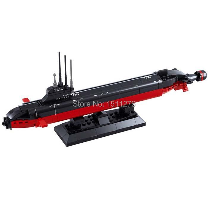 COOL Sluban B0391 NUCLEAR SUBMARINE Army NAVY Warship DIY Model Building Blocks Bricks Toys Gift 193PCS(China (Mainland))