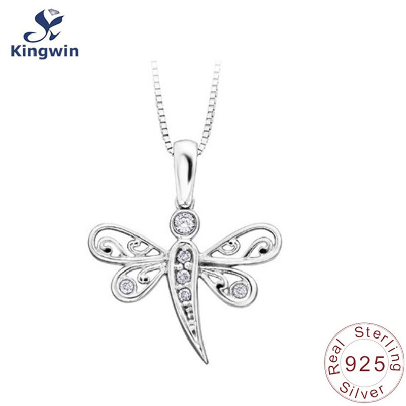 925 solid Sterling silver pendant butterfly fine jewelry necklace free shipping for wholesale 18k gold plating charm(China (Mainland))