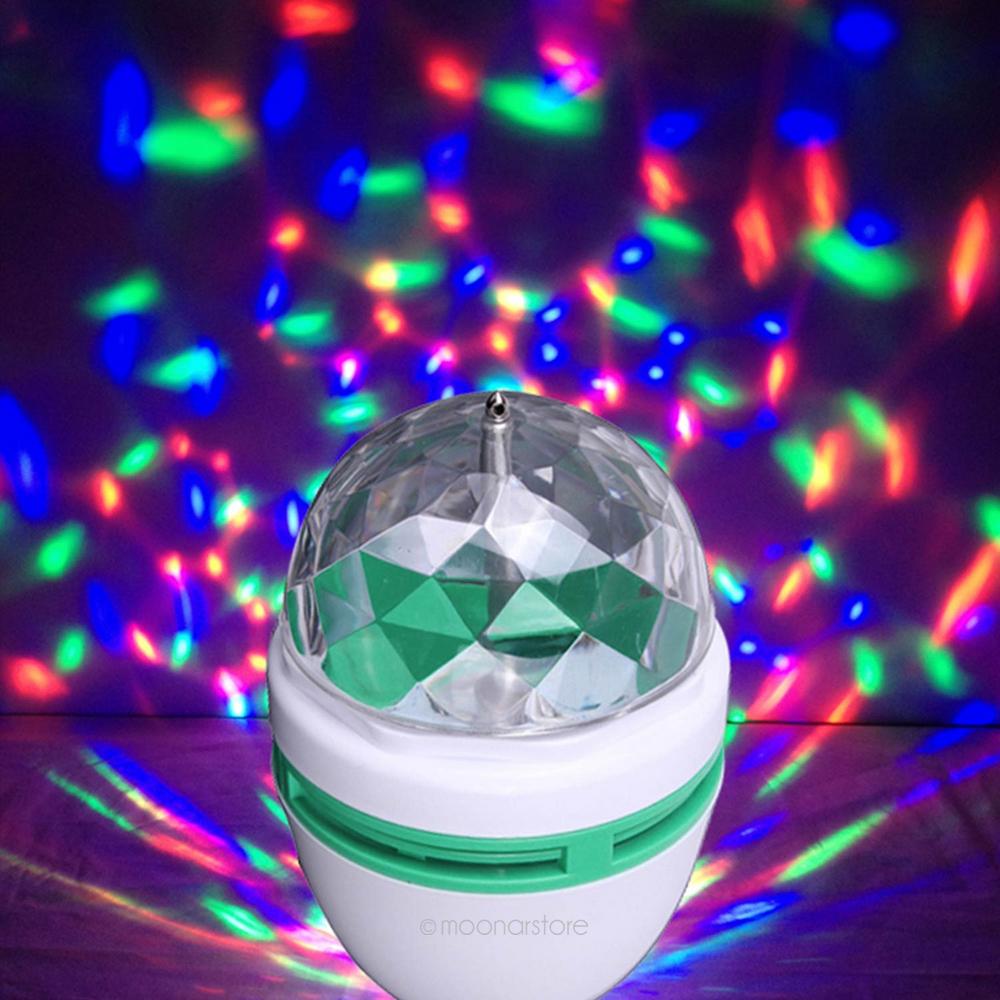 50 Full Color Changing E27 3W LED RGB Crystal Magic Ball ...