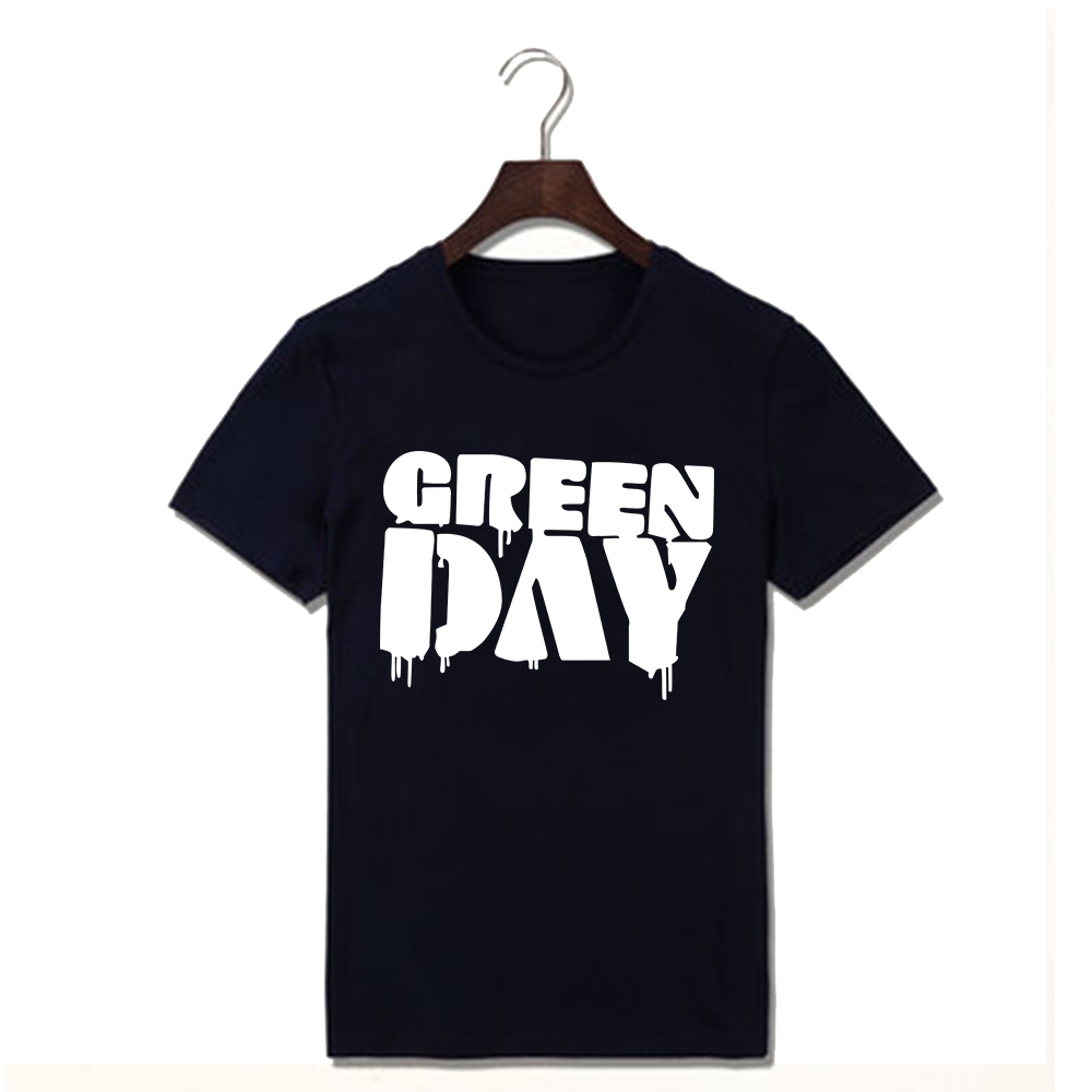 New Arrival Summer Men Green Day Letter T Shirts Cotton Short-sleeved Vintage Tshirts O-neck Casual Comfort T-shirts Clothing(China (Mainland))