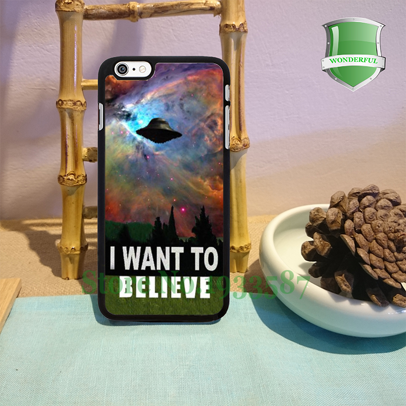 I Want To Belive X-File Movie Nebula Space Black Cell Phone Cases For Iphone 7 7plus 6 6 plus 6s 6splus 5 5s 5c 4 4s B*0130(China (Mainland))