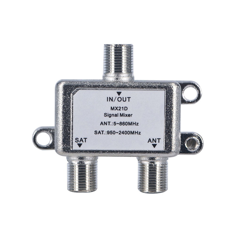 10pcs/lot 2 In 1 Dual-use 2 Way Diplexer TV Signal Mixer Satellite Sat Coaxial Combiner Cable Splitter Switch Switcher(China (Mainland))