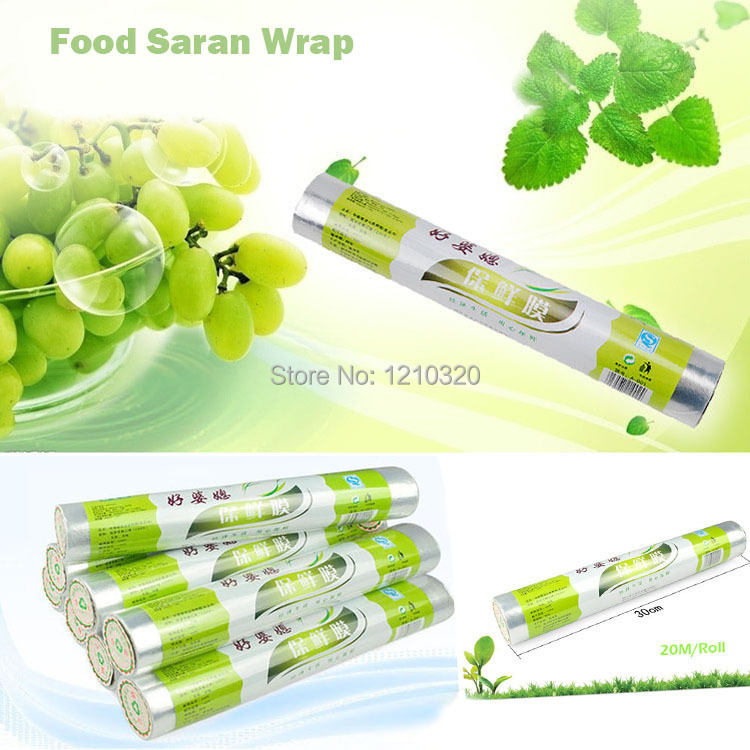 PE food saran wrap satety cover congelados food storage plastic bags fresh keeping film for fish meat 30CM*2000CM/1piece(China (Mainland))