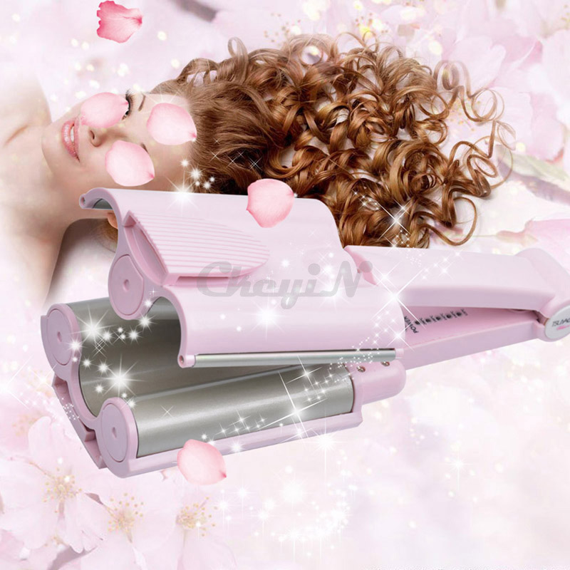 26mm Pink Electric Ceramic Hair Curler Professional Hair Rollers Curling Iron Wand Salon Hair Styling Tools 110-240V HS36F_2535<br><br>Aliexpress