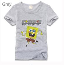 2016 Cartoon spongebob T Shirts Children Clothes Boys Short Sleeve Tees 100 Cotton Baby Girls Clothing