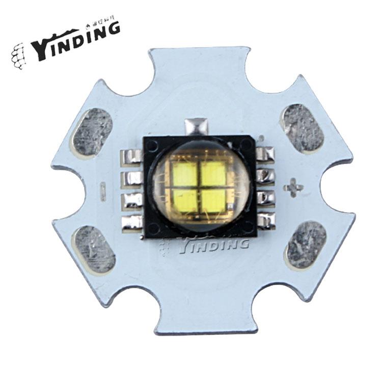 10pcs Cree XLamp MCE MC-E RGB 10W LED Emitter Blub Lamp Light Cold White/Warm White/Colorful RGB LED Chip with 20MM PCB Heatsink(China (Mainland))