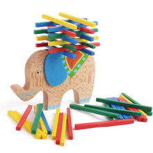 Kids Toys Wooden Elephant/Camel Balancing Toy Beech Wood Blocks Game For Children Montessori toys