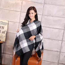 Brand Winter Scarf 2015 New Design Plaid Scarf cuadros Unisex Acrylic Basic Shawls Women's big size Scarves(China (Mainland))
