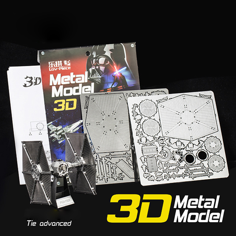 3D Metal Puzzles Model Educational Toys 3D Puzzle Jigsaw Kids Toys Assemble DIY Puzzles for Children Gift(China (Mainland))