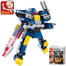 Sluban M38-B0387 action figure Model Building Kits Scale Models Classic Toys Learning & Education anime Robot Blue Toys