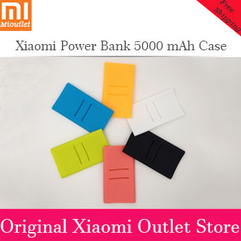 2015 Hot Sale OEM Xiaomi Power Bank Silicone Cases Covers For 5000 mah Xiaomi External Battery Pack Charging Lithium Mi-B5000(China (Mainland))
