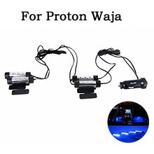 4-in-1 In Car Auto Charge Interior LED Atmosphere Lights LED Decoration Lamp Car Styling Blue For Proton Waja