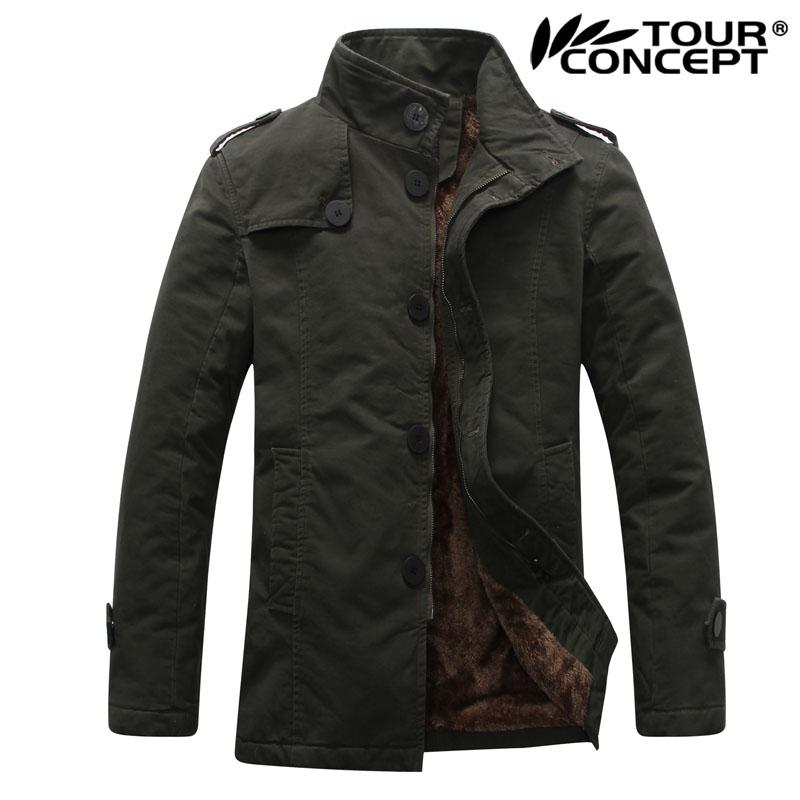 Winter Korea Style Thicken Cotton Men Coats & Jackets khakilackarmy green Color Size M,L,XL,XXL,XXXL - Men's Clothing store