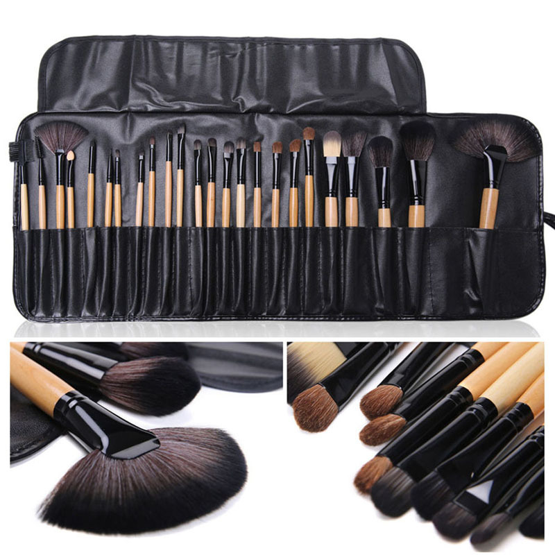 Professional 24 pcs font b Makeup b font Brushes Set Powder Foundation Eyeshadow Lip Brush Kit