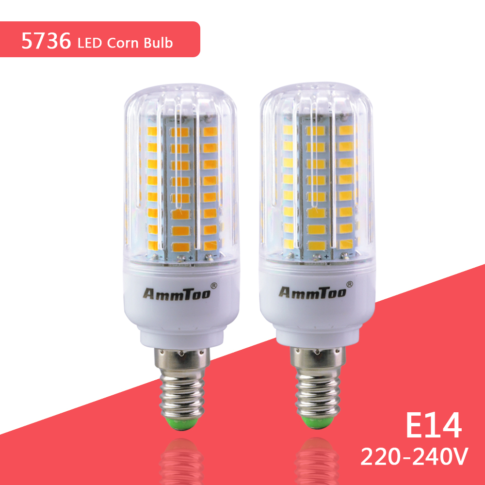 SMD5736 E14 LED Corn Lamp 220V 230V 240V Spot Light Power 3W 5W 7W 9W 12W 15W Ampoule LED 30-165Bulb Focos Luz Led Lighting(China (Mainland))