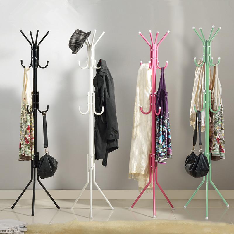 Modern Fashion Bedroom Percheros Hat Bag Hang Coat Rack Metal Tripod Stand Coat Rack 46cm*46cm*172cm(China (Mainland))