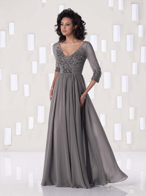 Платье для матери невесты Naduo 3/4 2015 custome made