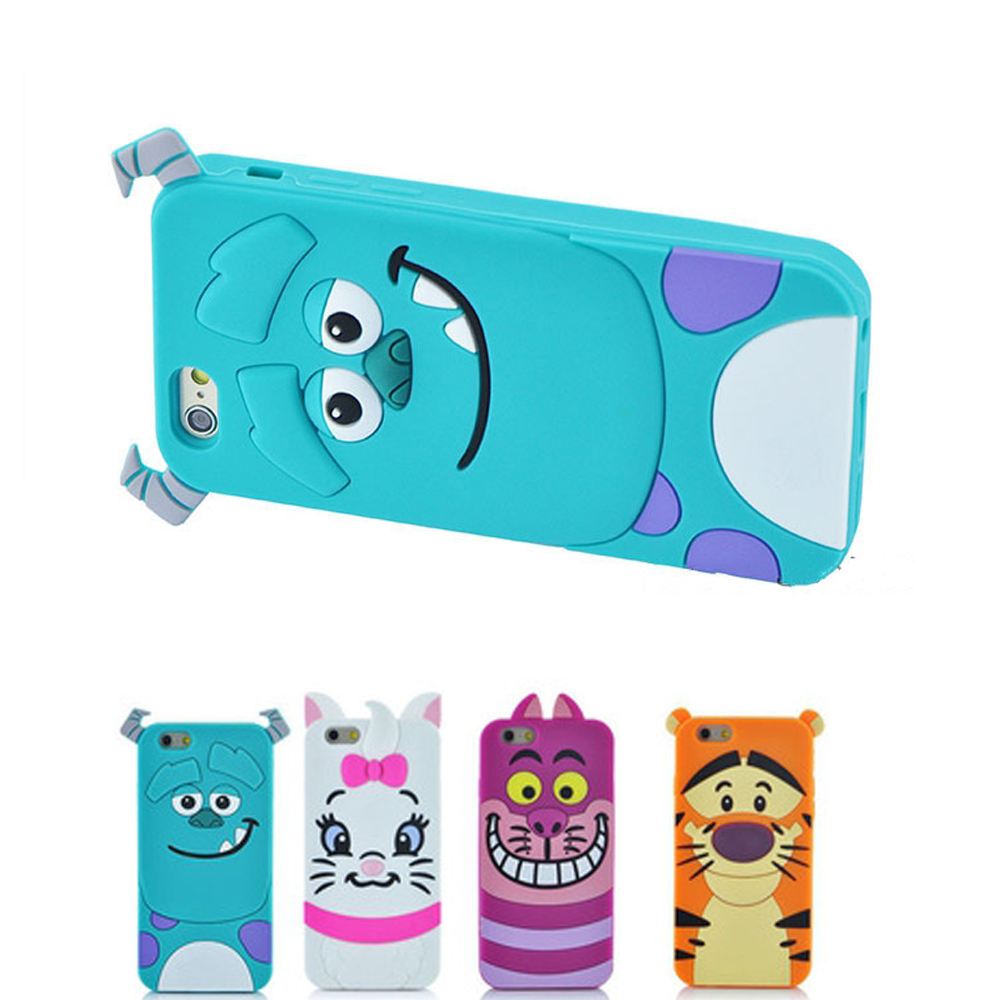Hot New 3D Cartoon Monsters University Sulley Marie Alice Cat Tigger Cover Fundas Phone Case For Iphone 6 6S 6/6S Plus Capa Para(China (Mainland))