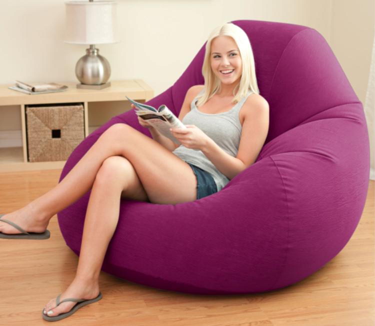 intex modern inflatable sofa set living room furniture bean bag sofa,size 122*127*81CM,include repair patch(China (Mainland))