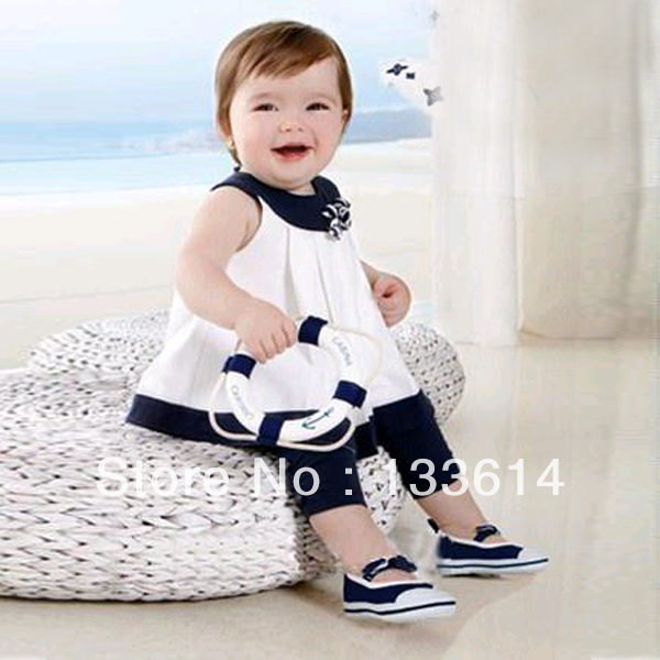 Kids Girls Baby Flowers Shirts Tops+Pants 2 PCS Clothes Set Outfits 0-3 Years