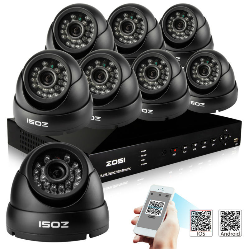 HD 800TVL Surveillance CCTV System 8CH DVR P2P Cloud with 960H CMOS IR Camera Security System with IR Cut Filter 8CH DVR Kit(China (Mainland))