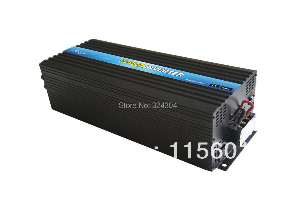 CE&RoHS&SGSApproved, DC24v AC100v-120v/220v-240v 5000w/5kw pure sine wave power inverter,built in 20A charger,free shipping!(China (Mainland))