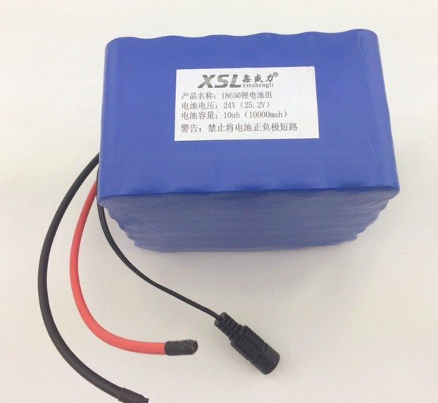 free shopping+24V 10 Ah 6S5P 18650 Battery lithium battery 24 v electric bicycle moped /electric/ battery pack+charger(China (Mainland))