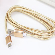 2016 Newest Nylon Line Fast Micro USB Cable For iPhone&Android Mobile Phone Mini Metal Plug Data Charger 1m 1.2m 1.5m