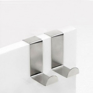 Wholesale Kitchen Stainless Hooks Door Cabinet Draw Towel Clothes Pothook 1pc/price HU037(China (Mainland))