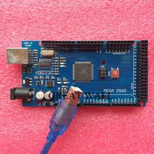 Free shiping !!! Mega 2560 R3 Mega2560 REV3 ATmega2560-16AU Board + USB Cable compatible for arduino