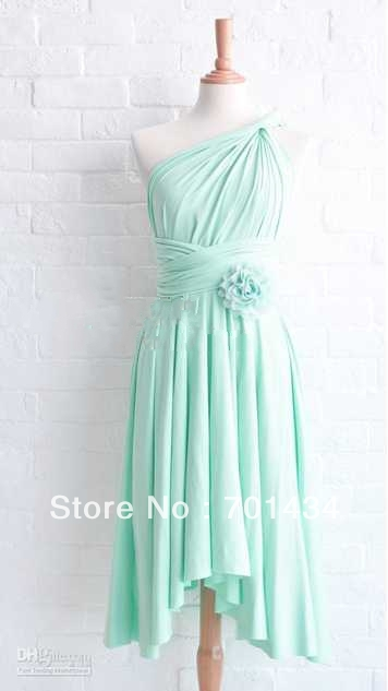 Popular mint bridesmaid dresses buy cheap mint bridesmaid for Bright colored wedding dresses