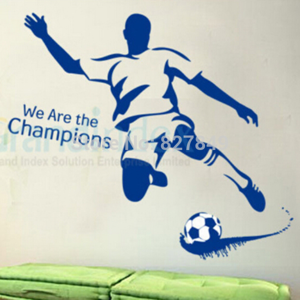 2016 New The World Cup Football Champions DIY Wall Sticker For Soccer Fans Home Decor(China (Mainland))