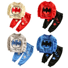 Handsome batman kids clothes Loungewear boys 2016 kids sports suit children batman sweatshirts + pants toddler boys clothes set