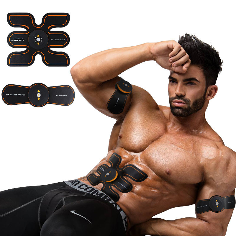 9 Pieces/Pack Smart Fitness Muscle Stimulator Intelligent Abdominal Muscle Training Apparatus Rechargeable Sport Body Machine(China (Mainland))