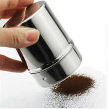 Stainless Steel Chocolate Shaker Cocoa Flour Salt Powder Icing Sugar Cappuccino Coffee Sifter Lid Hot Sale